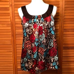 Style & Co Floral Sleeveless Blouse Size 6